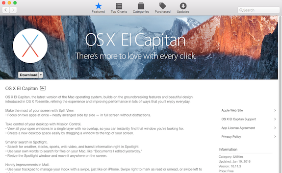 OSX El Capitan Screenshot